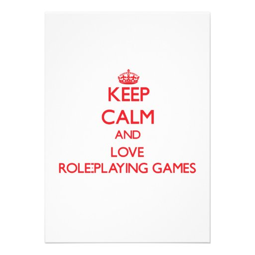 Keep calm and love Role-Playing Games Custom Announcements