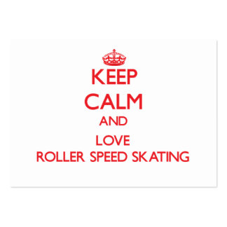 Keep calm and love Roller Speed Skating Business Card