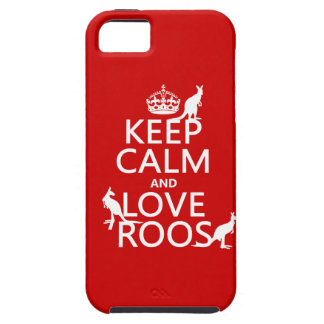 Keep Calm and Love 'Roos (kangaroo)  - all colors iPhone 5 Covers