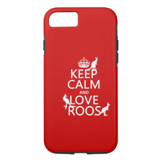 Keep Calm and Love 'Roos (kangaroo) - all colors iPhone 7 Case