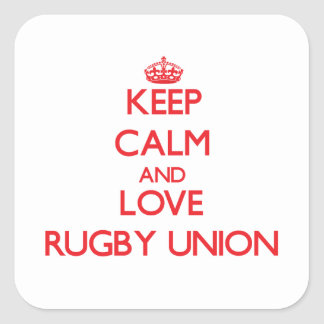 Keep calm and love Rugby Union Sticker
