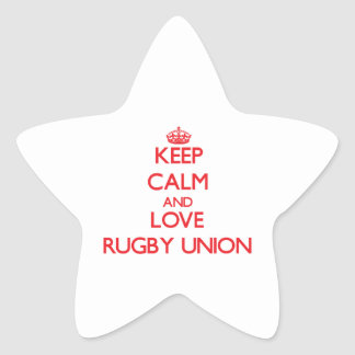 Keep calm and love Rugby Union Stickers
