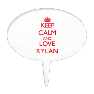 Keep Calm and Love Rylan Cake Pick