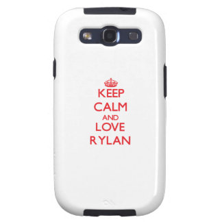 Keep Calm and Love Rylan Samsung Galaxy S3 Covers