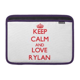 Keep Calm and Love Rylan Sleeve For MacBook Air