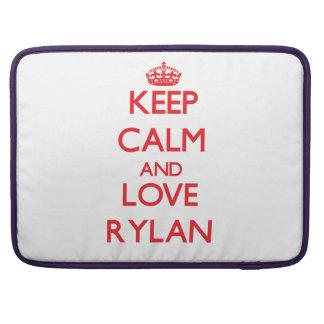 Keep Calm and Love Rylan MacBook Pro Sleeve