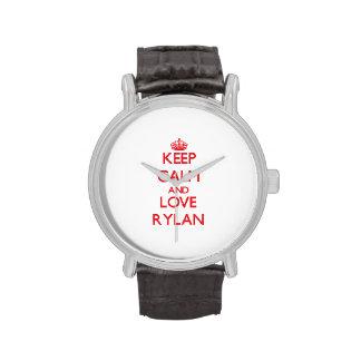 Keep Calm and Love Rylan Wrist Watch