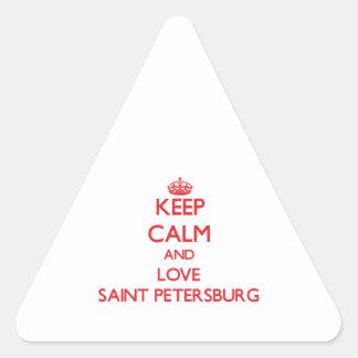 Keep Calm and Love Saint Petersburg Triangle Sticker