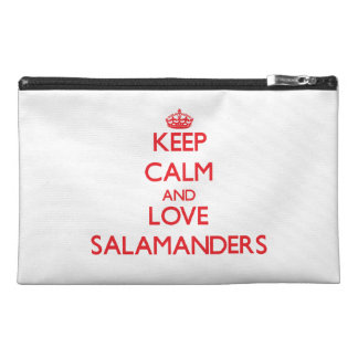 Keep calm and love Salamanders Travel Accessory Bags