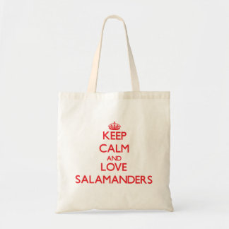Keep calm and love Salamanders Canvas Bags