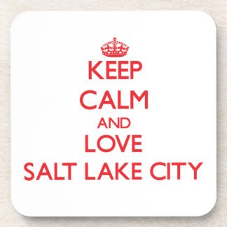 Keep Calm and Love Salt Lake City Beverage Coasters