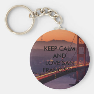 Keep Calm And Love San Francisco Basic Round Button Key Ring
