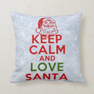 Keep Calm and Love Santa Cushion