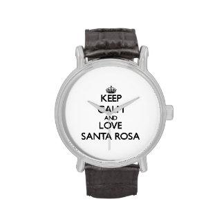 Keep Calm and love Santa Rosa Wrist Watch