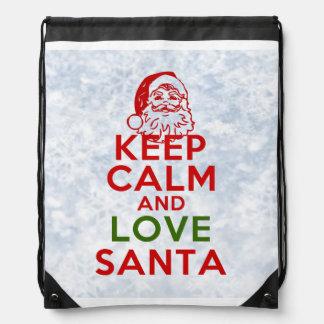 Keep Calm and Love Santa Rucksacks