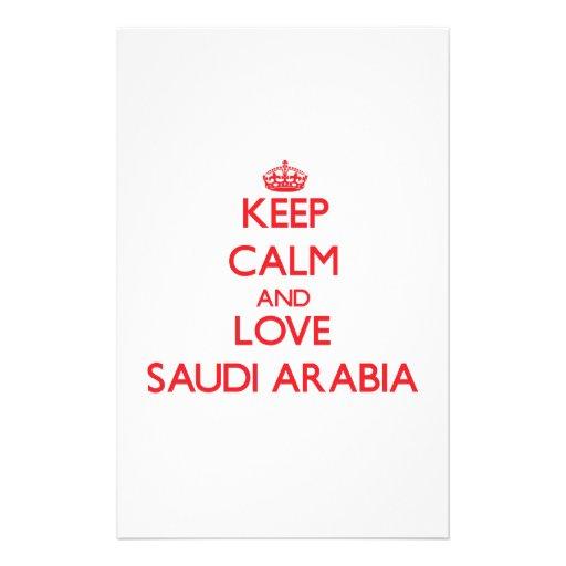 Keep Calm and Love Saudi Arabia Stationery Design