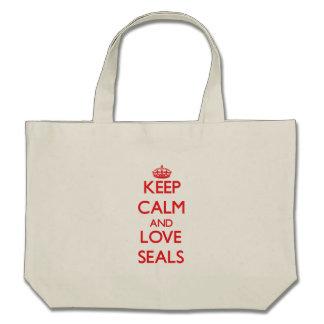 Keep calm and love Seals Tote Bag