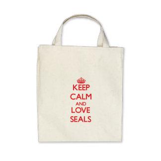 Keep calm and love Seals Canvas Bag