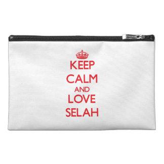 Keep Calm and Love Selah Travel Accessory Bags