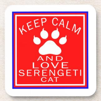 Keep Calm And Love Serengeti Beverage Coaster