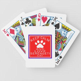 Keep Calm And Love Serengeti Bicycle Poker Cards