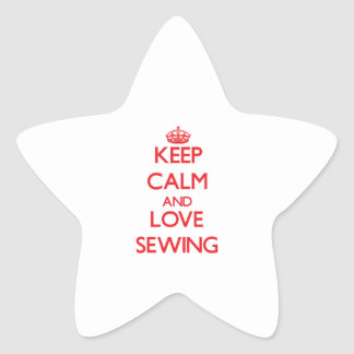 Keep calm and love Sewing Sticker