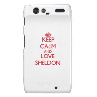 Keep Calm and Love Sheldon Droid RAZR Cover