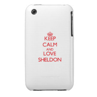 Keep Calm and Love Sheldon Case-Mate iPhone 3 Cases