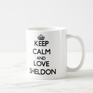 Keep Calm and Love Sheldon Coffee Mug