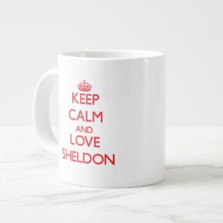 Keep Calm and Love Sheldon Extra Large Mug