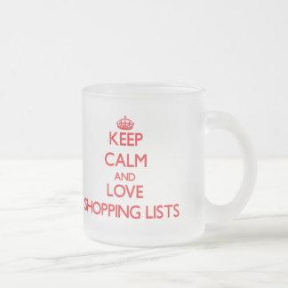 Keep calm and love Shopping Lists Coffee Mugs