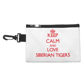 Keep calm and love Siberian Tigers Accessory Bags