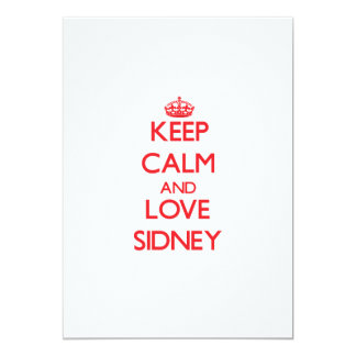 Keep Calm and Love Sidney Personalized Announcements