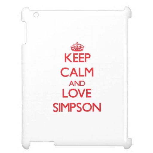 Keep calm and love Simpson iPad Cover