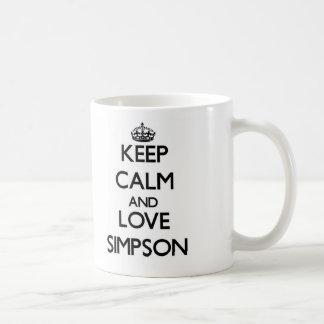 Keep calm and love Simpson Coffee Mug
