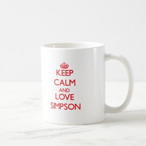 Keep calm and love Simpson Mugs