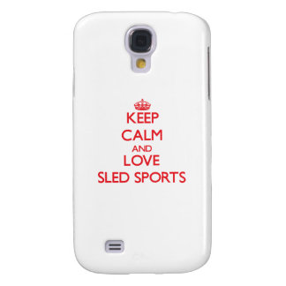 Keep calm and love Sled Sports HTC Vivid Case