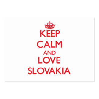 Keep Calm and Love Slovakia Business Card Template