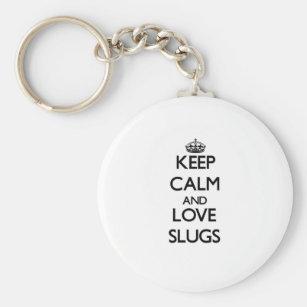 Keep calm and Love Slugs Key Ring