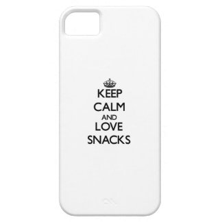 Keep calm and love Snacks iPhone 5 Case