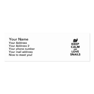 Keep calm and love Snails Business Card