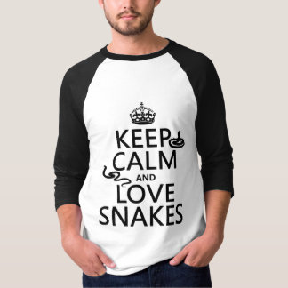 Keep Calm and Love Snakes (all colors) T-Shirt