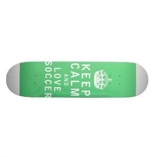 Keep Calm and Love Soccer 21.6 Cm Old School Skateboard Deck