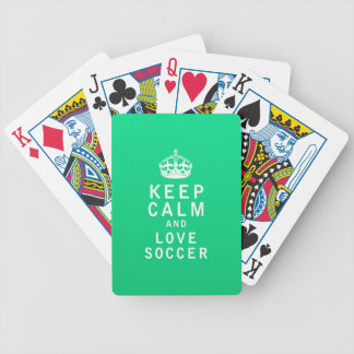 Keep Calm and Love Soccer Card Decks