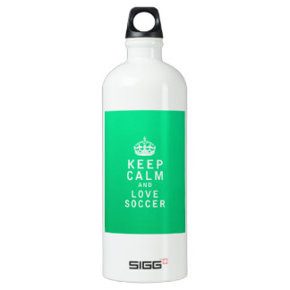 Keep Calm and Love Soccer SIGG Traveller 1.0L Water Bottle