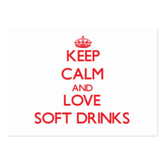 Keep calm and love Soft Drinks Business Card Templates