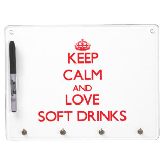 Keep calm and love Soft Drinks Dry Erase Board With Keychain Holder