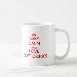 Keep calm and love Soft Drinks Mugs
