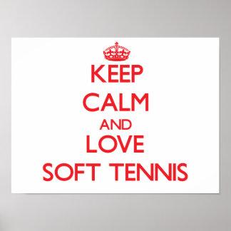 Keep calm and love Soft Tennis Print