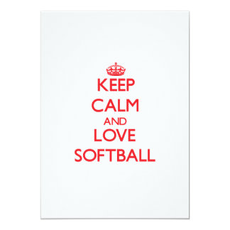 Keep calm and love Softball Card